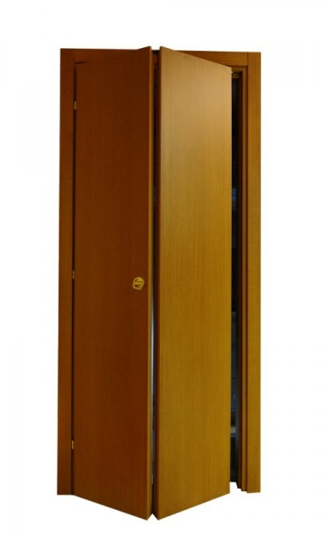 Porta In Tanganica Cieca A Libro Verniciata Tinta Noce
